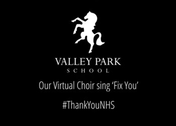 Valley Park School Virtual School Choir record song for NHS while in isolation